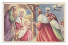 Pmce 215/7 Postcard Wish Vintage Holy Family Wise Men Nativity Play Merry Christmas