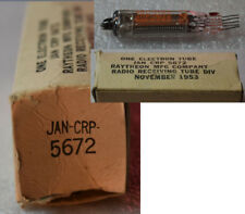 3x   JAN-CRP 5672  raytheon röhre tube Tested good 100%,Nos