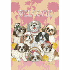 Shih Tzus Welcome Decorative Flag