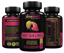 HAIR, SKIN & NAILS - Premium Supplement with Biotin & Vitamins - 60 VEGGIE CAPS