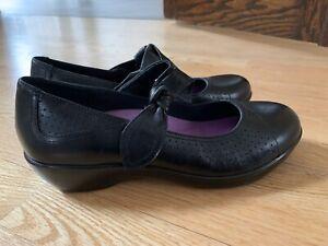 Dansko Ainsley Black Leather Knotted Strap Mary Jane Shoe Size 38 US 8