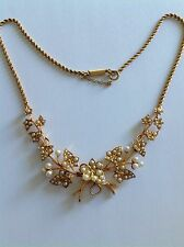 Superb Antique Victorian 15ct Gold Natural Seed Pearl Set Necklace