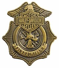 Harley Davidson® Antique Gold Firefighter Pin Badge P1265263 New Genuine