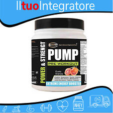 PRE WORKOUT PUMP POWDER MASSA MUSCOLARE Creatina Arginina Taurina caffeina g500