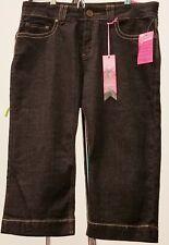 Bubble Gum Women's stretchy Jean Capris Size 14