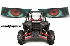 AMR Racing Polaris RZR 1000 UTV Headlight Graphics Eye Sticker Decals NIGHTMARE