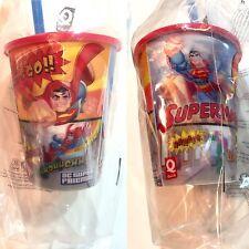 gobelet Hologramme +paille ,Quick DC comics Superman vs Lex Luthor, NEUF blister