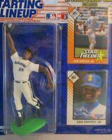 "STARTING LINEUP ~ 1993 "" KEN GRIFFEY JR "" ~ Seattle ~ Mariners ~ NM ~ + 2 cards"