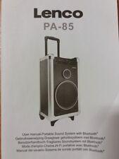 Benutzerhandbuch f. LENCO PA-85