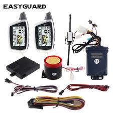 EASYGUARD 2 way motorcycle alarm system shock sensor pager alarm antihijacking