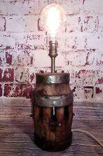 Antico Francese VECCHIO CARRO CARRELLO MOZZO Scrivania Tavolo Lampada Steampunk