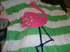 Pottery Barn Kids Flamingo Icon Kid towel see monogram 32 X 64 New