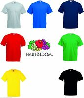 Fruit of the Loom Liso hombre o mujer camiseta 100% Algodón