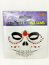 HALLOWEEN TEMPORARY FACE TATTOOS Sugar Skull Floral Vampire Day Of The Dead set