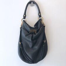 Marc By Marc Jacobs Black Leather Classic Q Hillier Hobo Shoulder Bag Purse Gold
