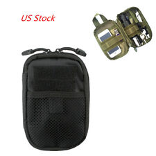 Tactical Makeup Storage Pouch Molle Bag Edc Sports Hunting Pack Belt Bag Black