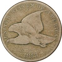 1858, 1c, Flying Eagle Cent - Small Letters - Collectors Coin