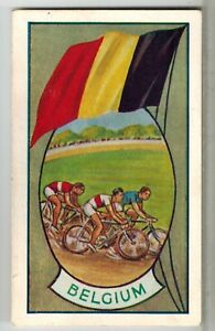 """Allens Sweets Collector Cards """"Sports & Flags"""" (1936) - Belgium / Bike Riding"""