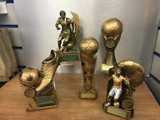 Pack of 5 Large Mens Football Trophies, RRP £79.95 Engraved Free