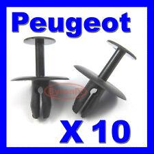PEUGEOT 206 WHEEL ARCH SPLASHGUARD INNER COVER BONNET GRILLE PLASTIC CLIPS X 10