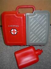 Vintage Hard Plastic Liverpool Club Nation Football Soocer Lunch Box W/Bottle