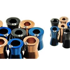 Wholesale Bulk Pack 18pcs Surgical Steel Body Piercing Plug w/ PVD Colors and CZ