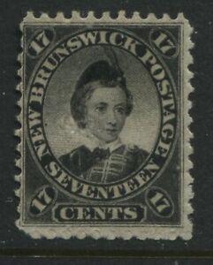 New Brunswick QV 1860 17 cents black mint o.g.