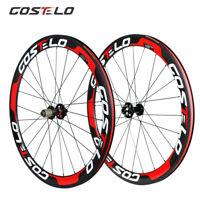Road Bike Thru Axle Carbon Wheel 50mm Clincher Tubuless Tubular bicycle Wheelset