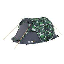 Regatta Malawi 2 Man Pop-Up Tent With Green Geometric Pattern