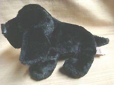 """Cute Plush Mini Black Labrador / Lab by Ganz - Rainbow """"W"""" on Paw"""