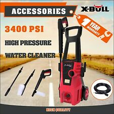 X-BULL High Pressure Water Cleaner Washer 3400 PSI Electric Pump Hose Gurney
