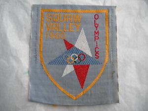 Vintage Skiing California Squaw Valley Ski Resort 1960 Olympics Patch fabric