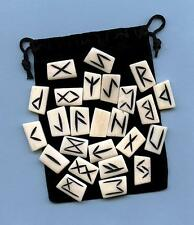 Bone Runes Set  w/pouch ~Divination
