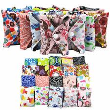 10 Serviette hygiénique réutilisable en tissu de bambou Protège-slip pour femme