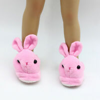 "Cute Pink Bunny Slippers 18 Inch Doll Clothes Fits 18"" Dolls Toys Handmade"