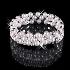Perlen-Armband, Armreif, silber, Unisize, Partyschmuck, Modeschmuck, NEU