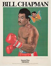 1970's Muhammad Ali & George Foreman Lithograph Bill Chapman Autographed