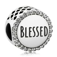 New 100% 925 Sterling Silver Blessed Charm Pandora