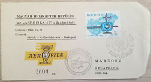 J) 1967 HUNGARY, MAP AND AIRPLANE, AIRMAIL, CIRCULATED COVER, FROM HUNGARY TO BU