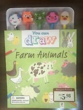 You Can Draw Farm Animals w/ 5 pencils- NEW