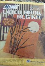 Vintage National Yarn Crafts Latch Hook Rug Kit 20x27 AUTUMN HARVEST NEW Stitch