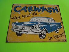 tin metal home garage repair shop man cave decor gas oil car wash best in town
