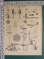 1816 Fecha Antigüedad Estampado Agua Obras Máquinas Para Elevar Appartus Diagram