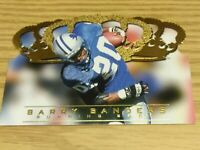 BARRY SANDERS DETROIT LIONS HOF 1996 CROWN ROYALE TRIPLE CROWN SP 0411/1210  HOT