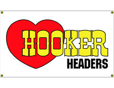 Hooker Header Garage Banner Man Cave Banner Hot Rod Rat Rod NHRA