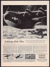 1944 WWII MARTIN JRM MARS Cargo Plane Curtiss Aircraft Electric Propellers AD