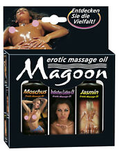 Set 3 x Olio per massaggio erotico Magoon V1 Sensual Massage Oil set 3 x 50 m...
