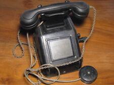 WWII 2. WELTKRIEG HERRLICH KURBEL TELEFON REICHSADLER GEMARKT GLEICHRICHTER