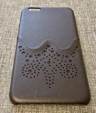 COLE HAAN Brogue Dark Roast Leather Case for iPhone 6 Plus & 6S Plus 6+ 6S+