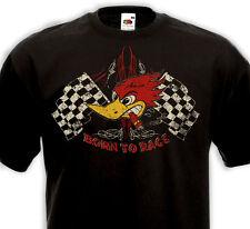 T-Shirt BORN TO RACE Racer Hot Rod Custom V8 pinstripe Biker Muscle Car Bip Bip